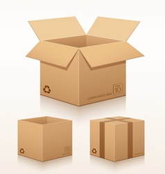collection corrugated box recycle vector image vector image