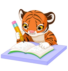 Tiger Learns vector image vector image