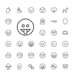 33 character icons vector