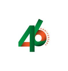 46 year anniversary template design vector
