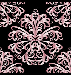 Abstract pink vintage floral seamless pattern vector
