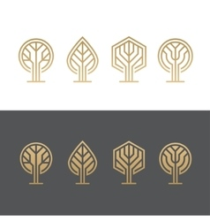 Abstract tree logos vector