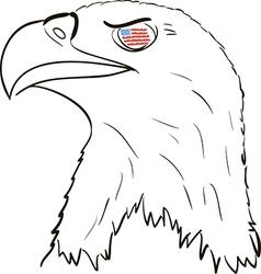 American Eagle vector image