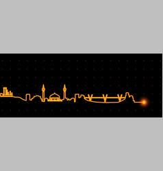 Amman light streak skyline vector