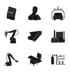 Automotive industry and other web icon in black vector