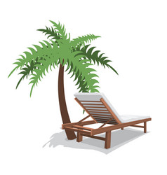 beach chair with palm vector image