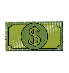 Bill dollar money isolated icon vector