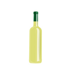 bottle of white wine isolated on blank background vector image