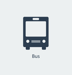 Bus icon silhouette icon vector
