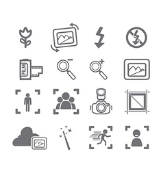 Camera icons menu vector