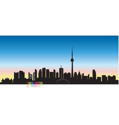 canada city skyline toronto landmarks cityscape vector image