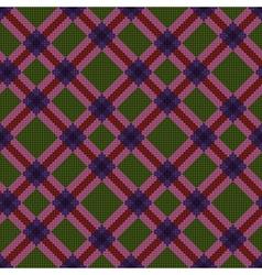 Checkered diagonal seamless tartan texture vector image