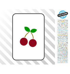 Cherry card with bonus vector