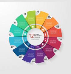 circle infographic 12 options vector image