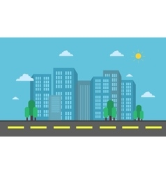City and street landscape vector