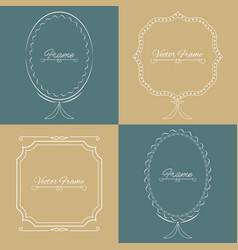 Collection of four stylish elegant frame vector