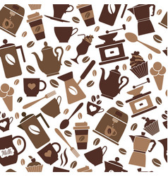 colorful coffee icon set on white vector image