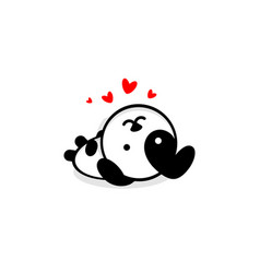 Cute dog in love and rest vector
