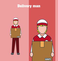 delivery man cartoon vector image