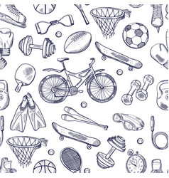 doodles hand drawn seamless pattern of vector image