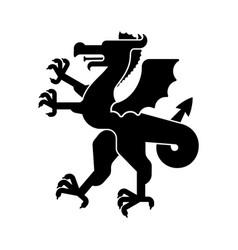 Dragon heraldic animal silhouette fantastic beast vector