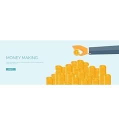 Ector Flat header Money and money vector