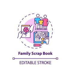 family scrap book concept icon vector image