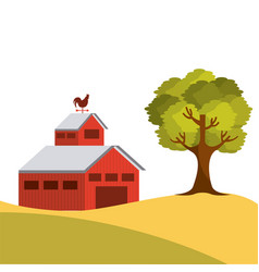 Farm barn design vector