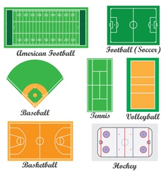 fields for sport games vector image vector image