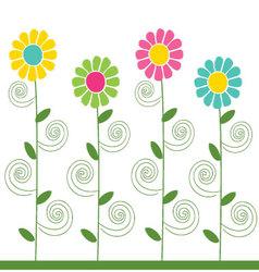 flowers pattern 3 vector image