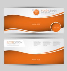 Flyer banner or web header template set vector