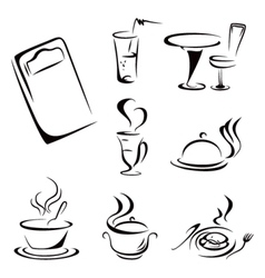 Food symbols vector image