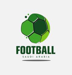 Football saudi arabia logo template design vector
