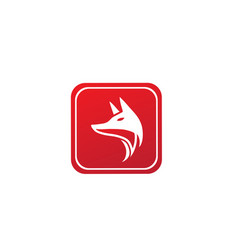 fox head for logo design in shape icon vector image