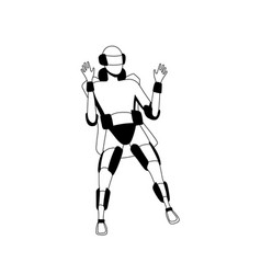 future technology man in virtual reality glasses vector image