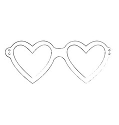 Glasses in heart shape vector