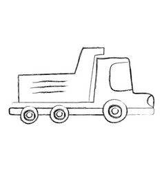 grunge dump truck industry and contruccion vehicle vector image
