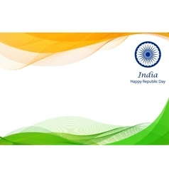Happy Republic Day of India background vector