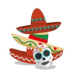 Hat of Mexican culture design vector