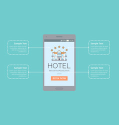 hotel best service good price vector image