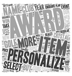 How To Buy Golf Awards text background wordcloud vector