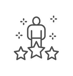 human with big stars worker rating assessment vector image