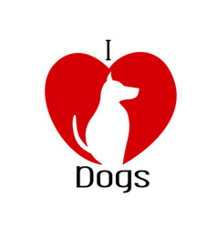 I love dogs icon vector