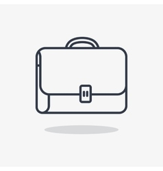 icon suitcase for documents vector image