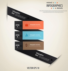 infographics minimal 2 vector image vector image