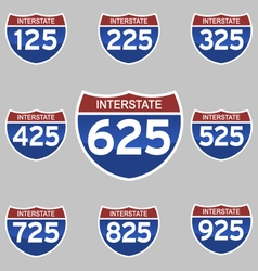 INTERSTATE SIGNS 125-925 vector image