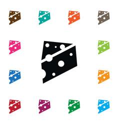 Isolated delicatessen icon porous element vector