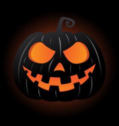 Jack o lantern pumpkin smiley face vector