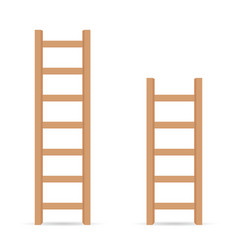 Ladder in light brown color vector