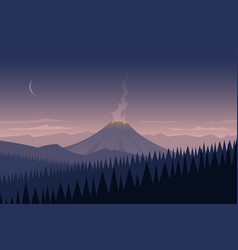landscape and volcano vector image